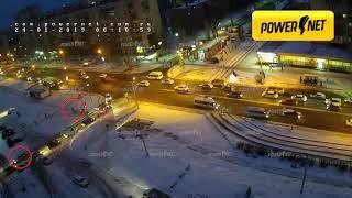 ДТП (авария г. Волжский) пр. Ленина ул. Академика Королева 24-01-2019 08-10
