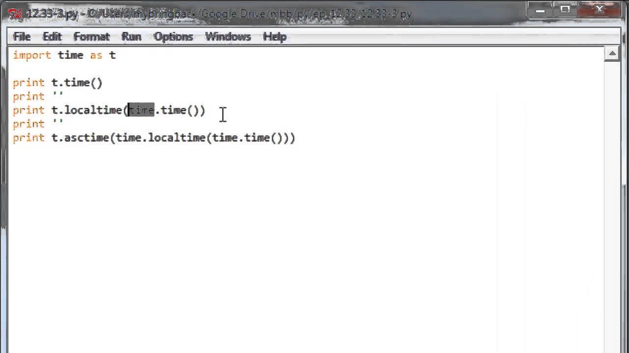 Learn Python Programming Tutorial 12 5 | Time Module