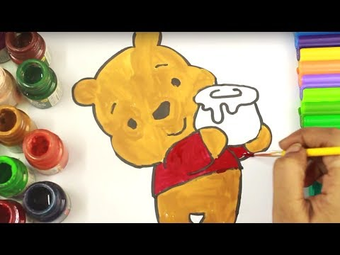 Winnie The Pooh Colouring Book - Disney Coloring Pages | coloring pages for kids | coloring videos
