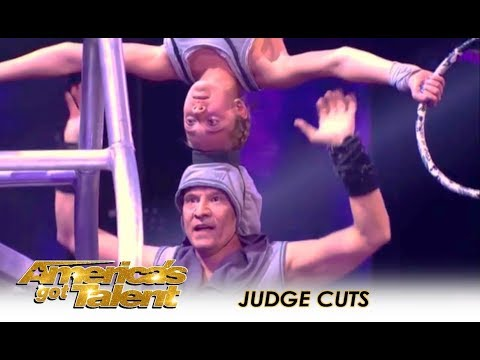 Sergey & Sasha: This Father and Daughter Bond Through EXTREME DANGER! | Americas Got Talent 2018