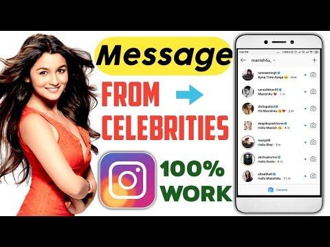 Get Message From Celebrities On Instagram [ 100% Working ✓ ]
