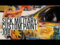 Military Custom Painted low rider truck | airbrush automotive paint job