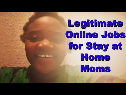 Legitimate Online Jobs for Stay at Home Moms and Online Jobs that Pay Daily