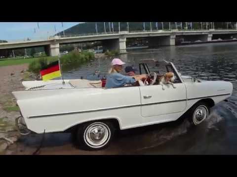 Amphicar - Von der Straße in den Neckar.