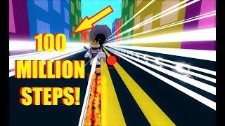 100 MILLIONEN SCHRITTE in SPEED CITY! Blitz RANK! (Roblox)