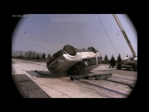 Ford Expedition   2007   Curb Trip Rollover Crash Test   NHTSA   CrashNet1