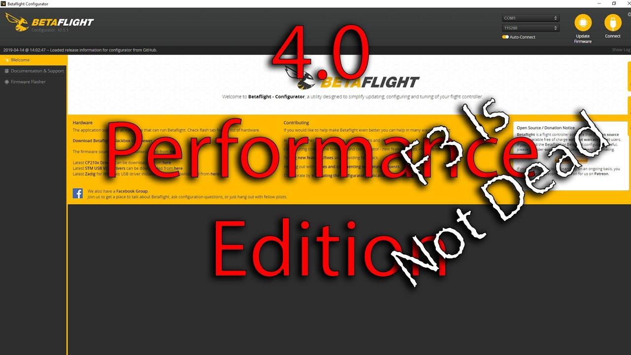 Betaflight 4 0 Performance edition for F3 Board - Shorter setup