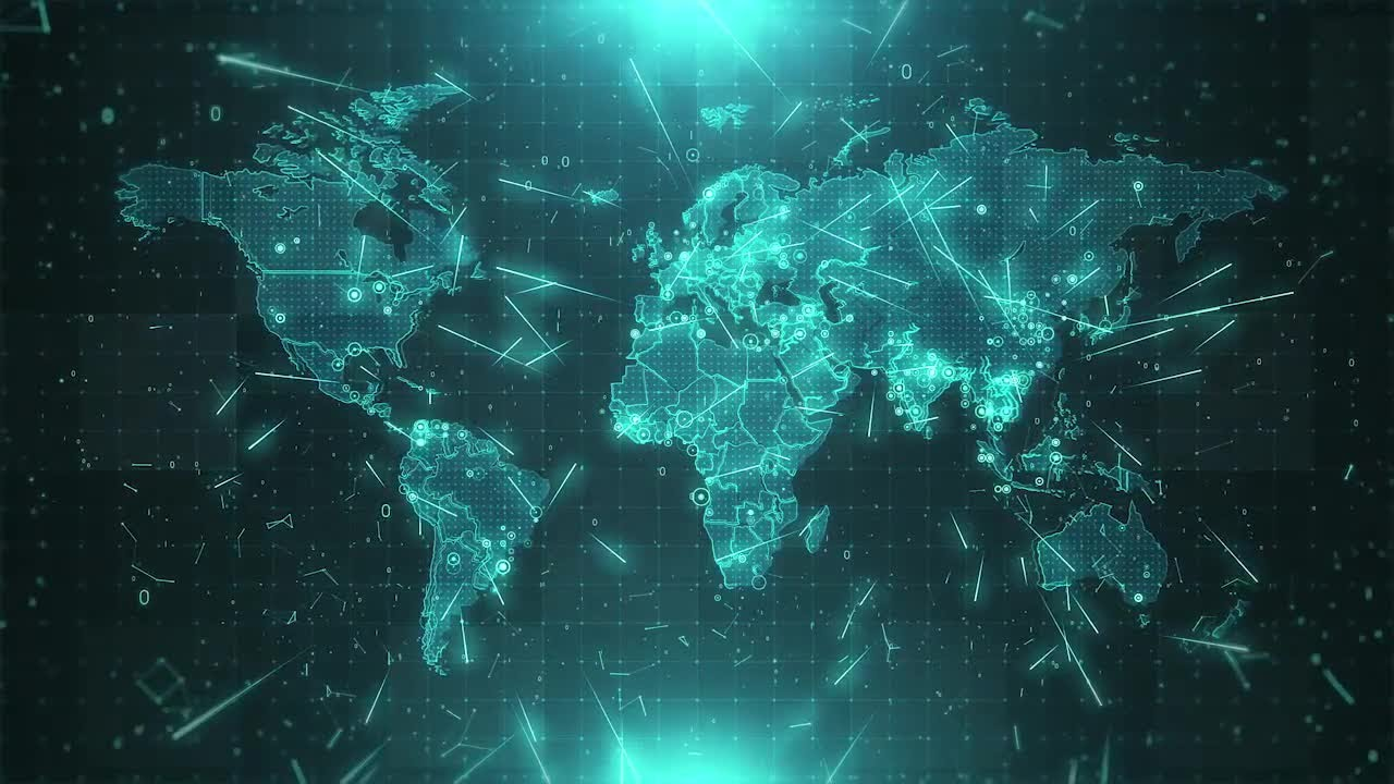 World map background cities connections 4k stock motion graphics world map background cities connections 4k stock motion graphics gumiabroncs Image collections