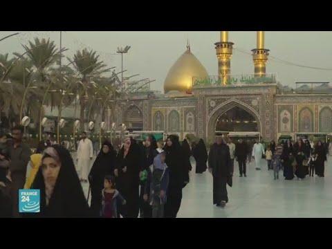 المتظاهرون في كربلاء يطالبون بإسقاط الأحزاب الدينية -التابعة لإيران- وبنظام حكم علماني