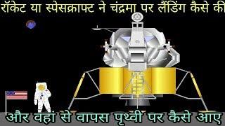 रॉकेट या स्पेसक्राफ्ट चंद्रमा पर लैंडिंग कैसे करता है और वापस पृथ्वी पर कैसे आता है.... home rocket