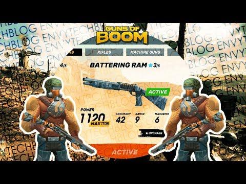 Guns of Boom ~ Battering RAM Gameplay ~ Best Shotgun at Cheap Ingame Gun Bucks