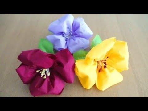 How To Make Napkin Flower Very Easily Tissue Paper Flower Diy