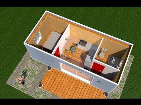 33 0 6 30 66 78 63 maison piscine france fr youtube for Plan conteneur