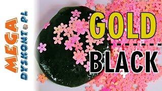 Gold Slime vs. Black Slime • Złoty i czarny glutek z cekinami • kreatywne zabawy