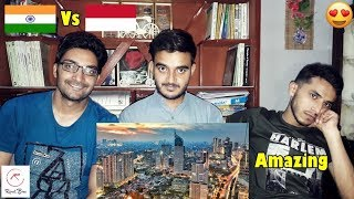 Foreigner Reacts To: MUMBAI(INDIA) VS JAKARTA(INDONESIA)|Skyline/Infrastructure comparison|2017