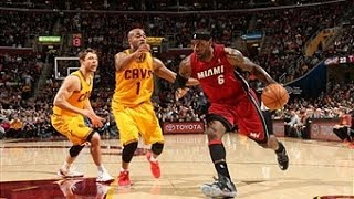 LeBron James 25 Point First Quarter!