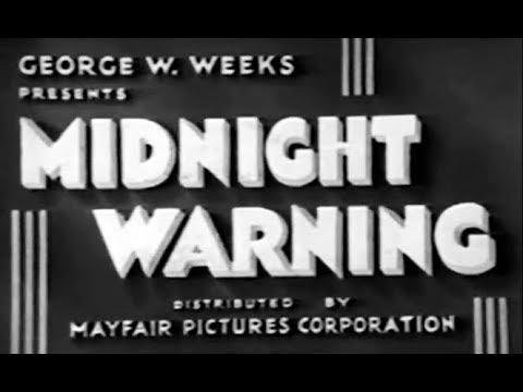 Old Mystery Movie - Midnight Warning (1932)