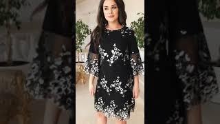 P 1097 Платье коктейльное с вышитой пайеткой на сетке video