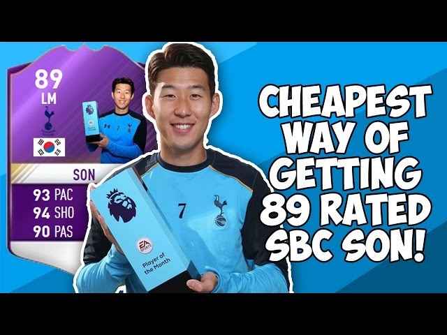 The Cheapest Way To Get SBC POTM 89 Heung Min Son! (BARGAIN!)