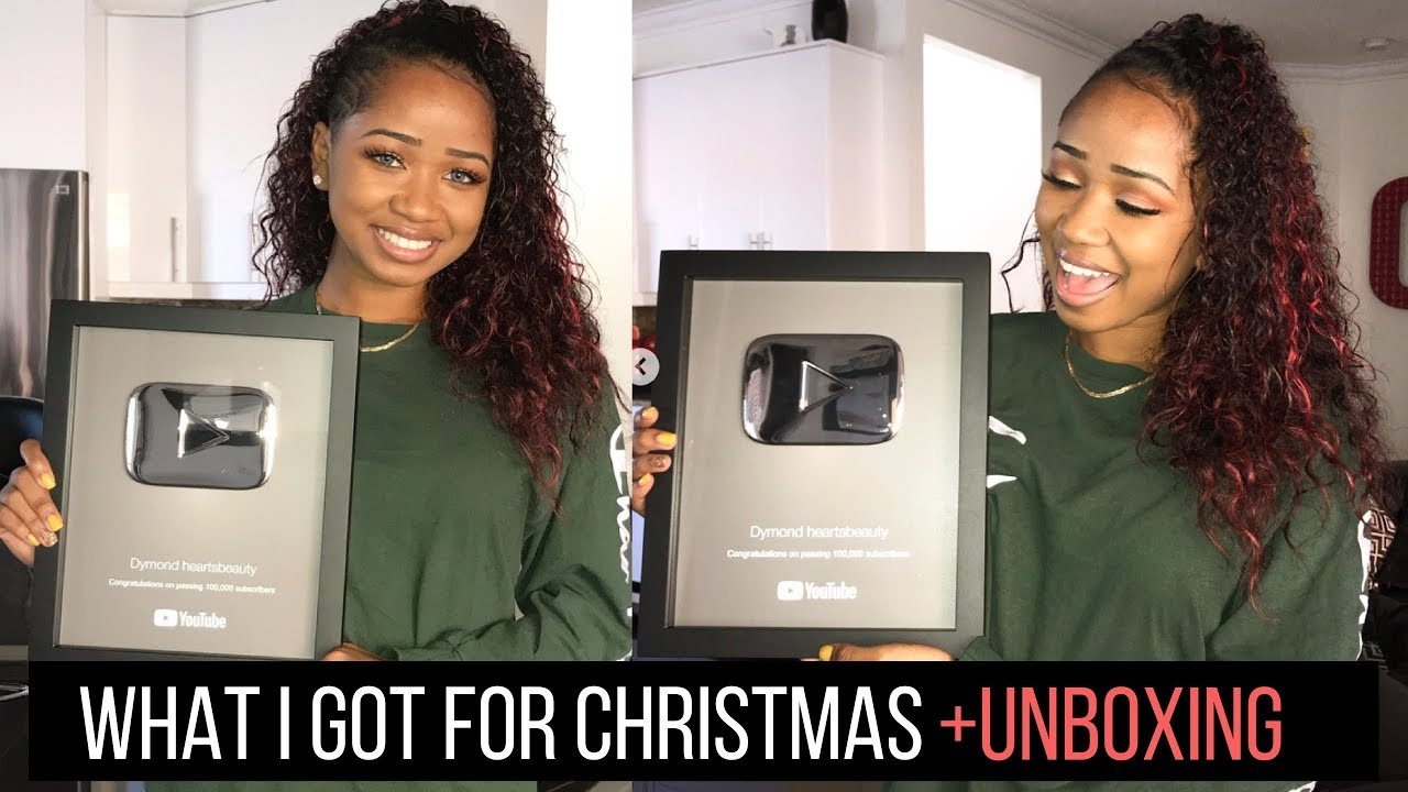 WHAT I GOT FOR CHRISTMAS 2017 + SILVER PLAY BUTTON UNBOXING - YouTube