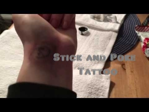 Stick And Poke Tattoo Hurts So Badly Youtube