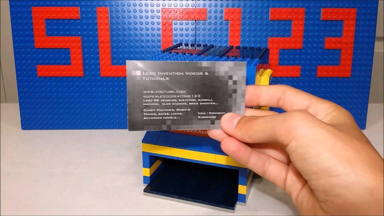 Lego Business Card Dispenser *+Mechanism* - YouTube
