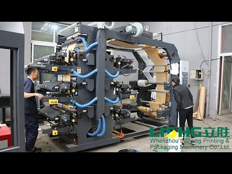 6 color 800mm flexo printing machine with 2 rolls printing at same time