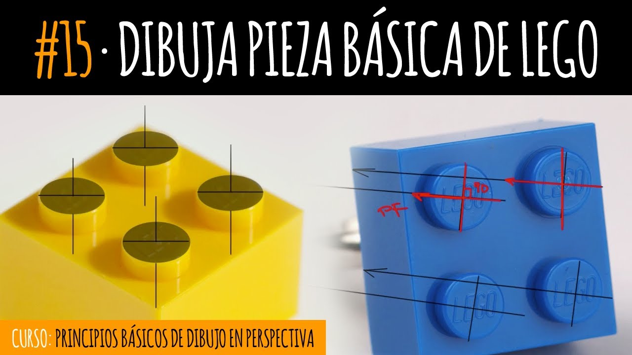 Dibuja pieza b sica de lego curso de dibujo youtube - Piezas lego gigantes ...