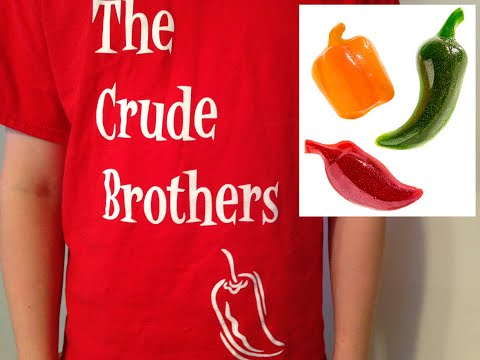 12-yr-old does Spicy Gummy Peppers Challenge Vat19 : Crude Brothers
