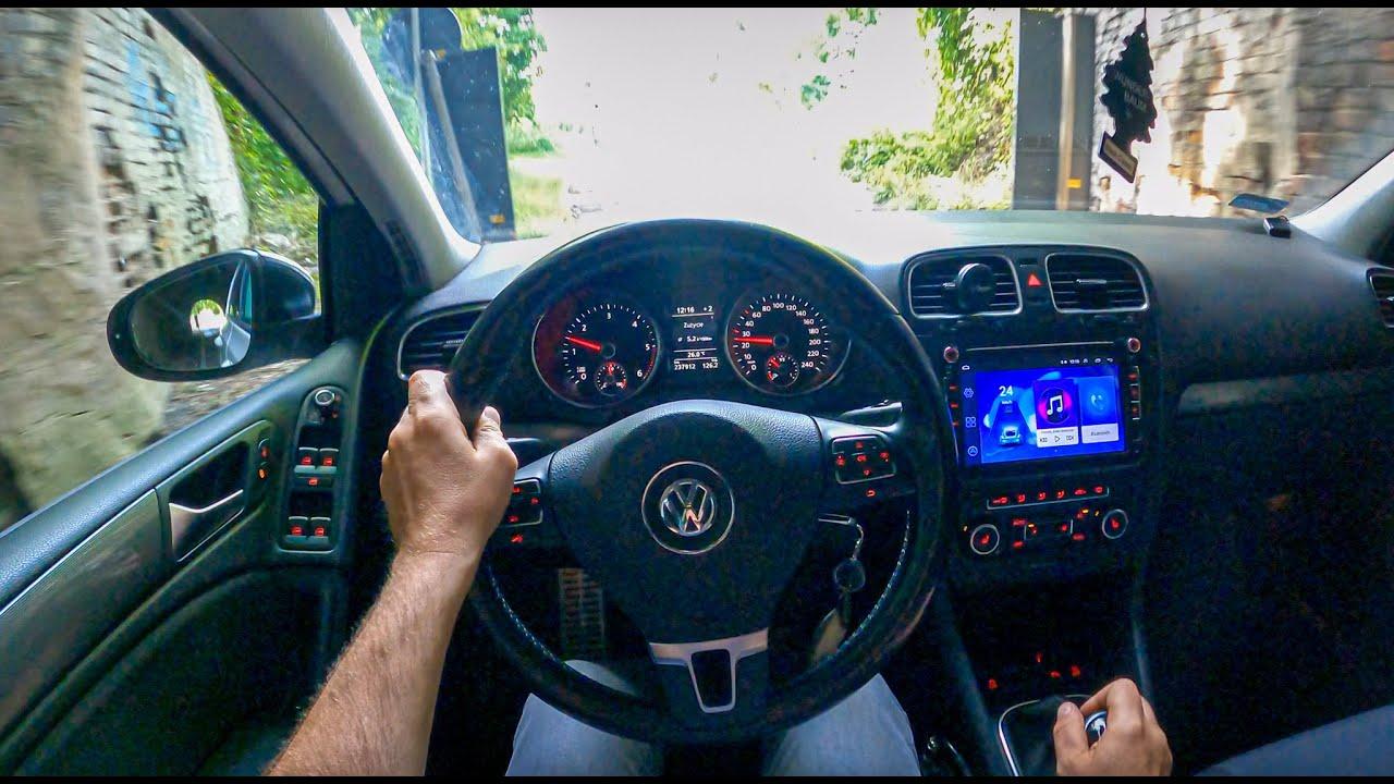 2012 Volkswagen Golf VI [1.6 TDI 105 HP] | POV Test Drive #872 Joe Black