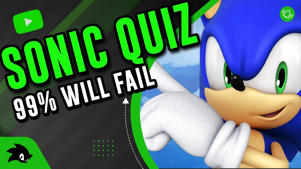 99 Will Fail This Sonic The Hedgehog Quiz Trivia Test Quiz Youtube