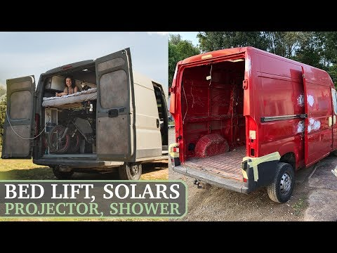How to Build a Home Made Camper Van / Start to Finish DIY Off-Grid Conversion