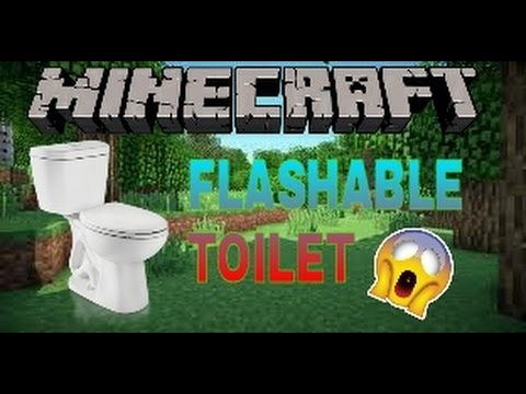 how to make a toilet in minecraft no mods
