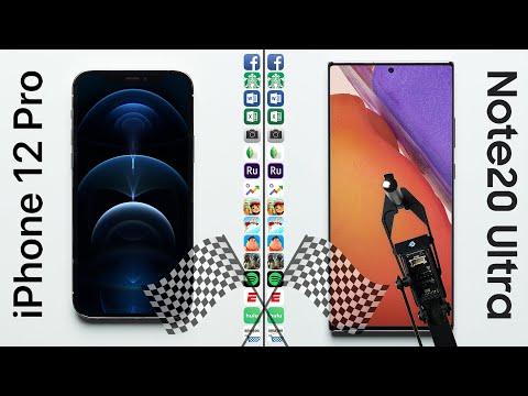 iPhone 12 Pro vs. Galaxy Note 20 Ultra Speed Test