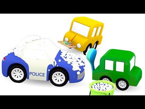 Мультики для малышей про 4машинки— Полицейская машинка наавтомойке— Развивающие мультфильмы - Видео онлайн