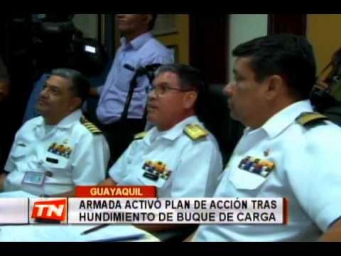 Armada activó plan de acción tras hundimiento de buque de carga