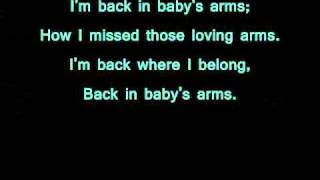 Patsy Cline- Back in Baby's Arms (lyrics)