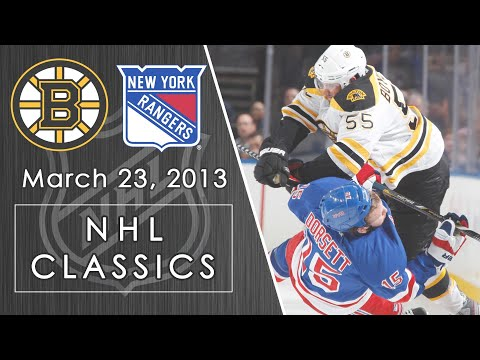 NHL Classics: Boston Bruins Vs. New York Rangers | 3/23/13 | NBC Sports