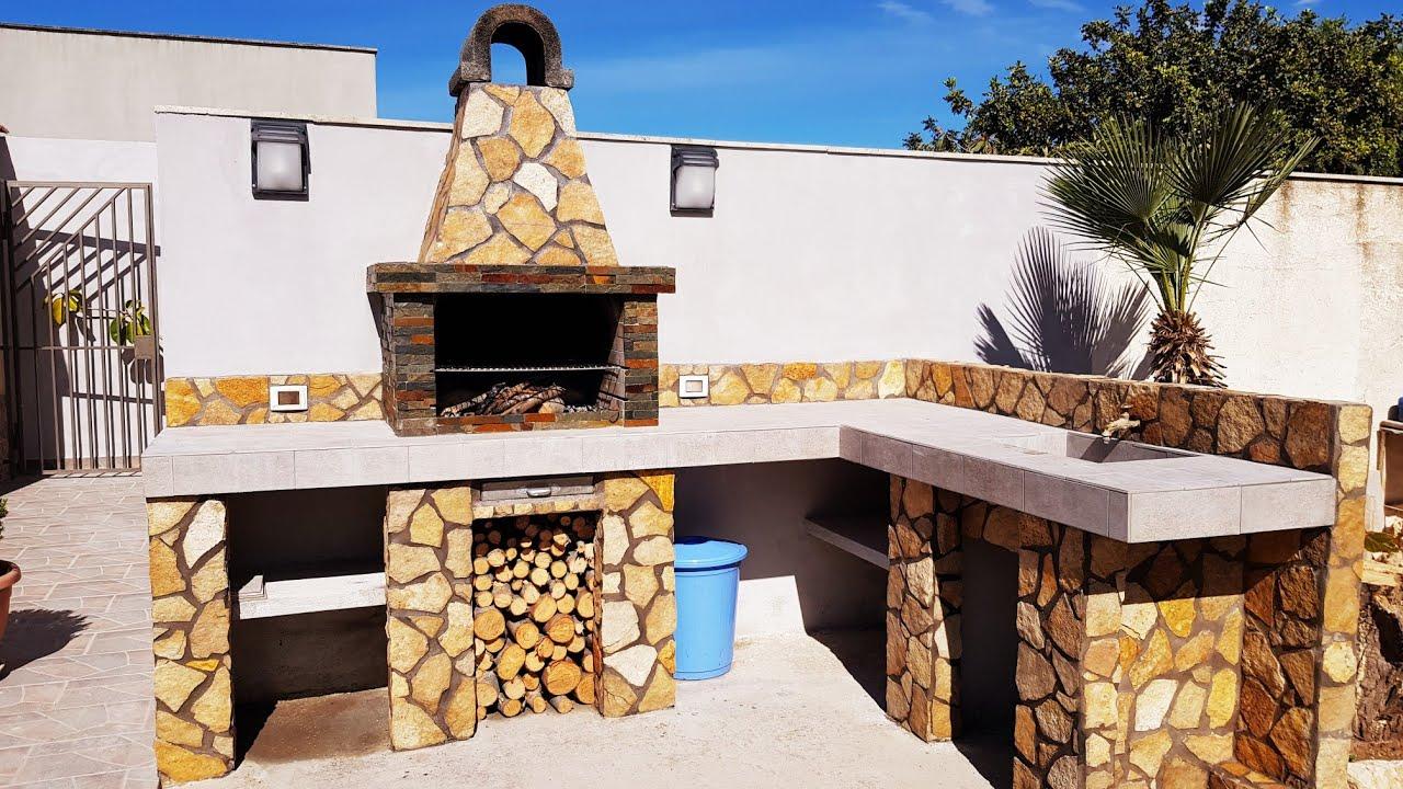 Barbecue In Muratura Immagini barbecue in muratura fai da te con lavandino.