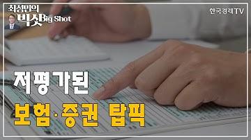 저평가된 보험·증권 탑픽/기관의 눈/최성민의 빅샷/한국경제TV