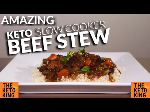 DELICIOUS Keto Slow Cooker Beef Stew Recipe | EASY Beef Stew Slow Cooker Keto | Keto Beef Stew
