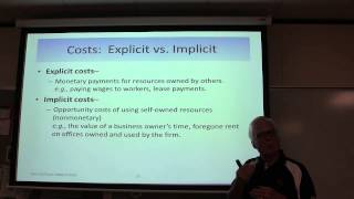 Micro Chapter 8 Explicit vs. Implicit Costs