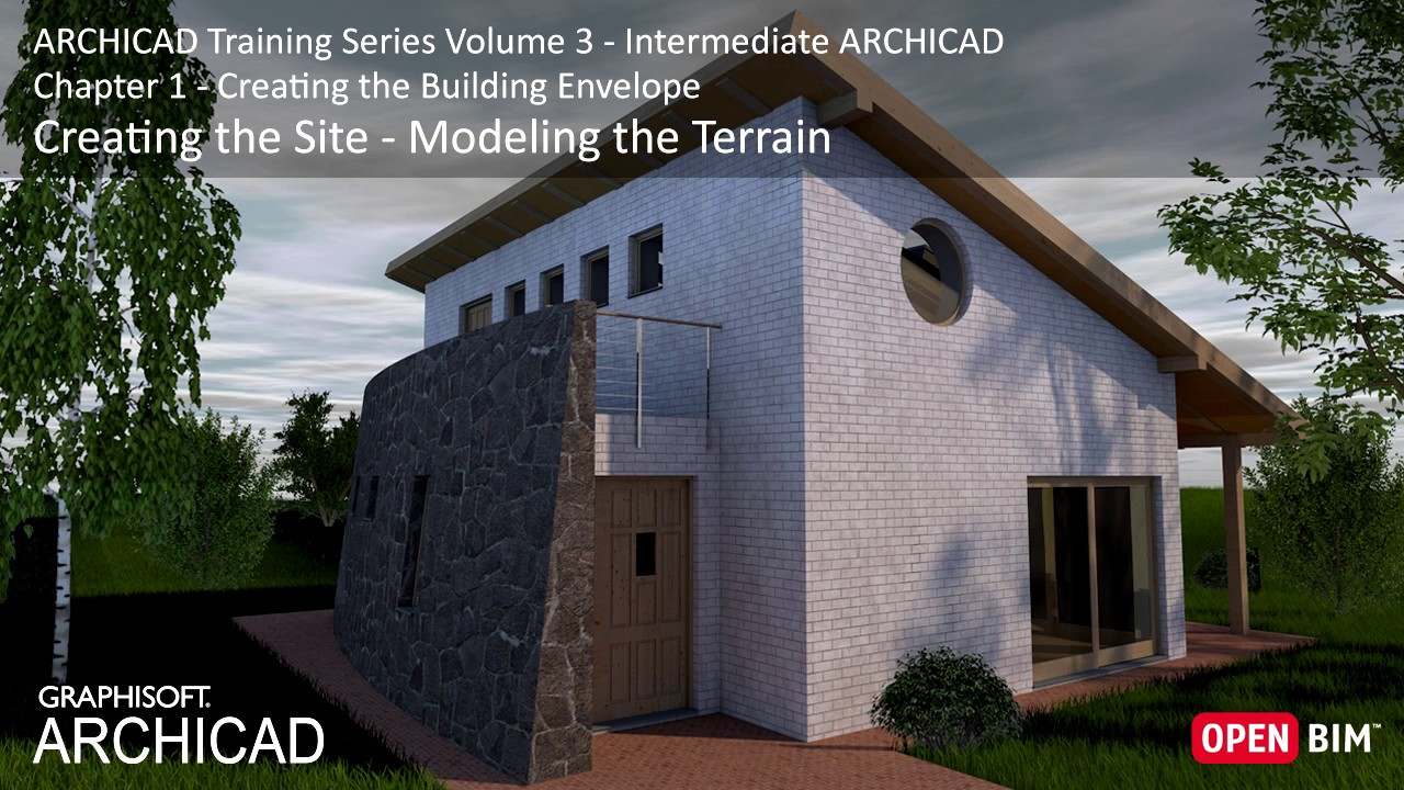 Creating The Site Modeling The Terrain Archicad