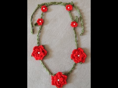 Crochet : Collar de Flores. Parte 1 de 2 - YouTube