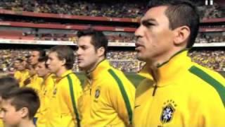 Brazil Vs. Scotland : Sabrina Malheiros Sings The Brazilian National Anthem