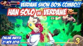 Verdane show 80% Broly Combo!! HanSolo vs Verdane | DBFZ Online Match FT2 21 Nov 2018
