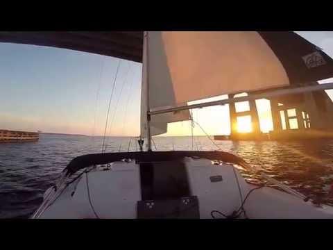 Sailing St Johns River, Buckman Bridge Jacksonville Florida