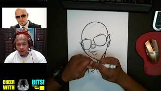 How To Draw Caricature Pitbull