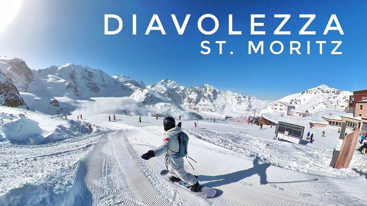 瑞士圣莫里茨魔女峰(仙女峰)单板滑雪 Diavolezza St. Moritz Snowboarding Piz Bernina