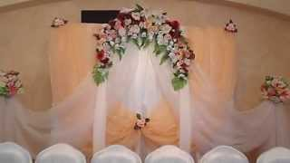 Как оформить свадьбу.Свадебное оформление тканями.